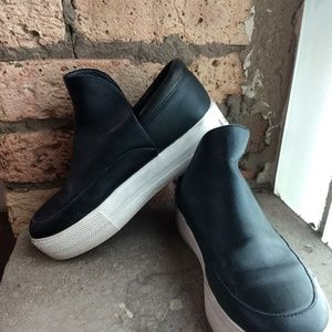 Ash leather slip on sneakers
